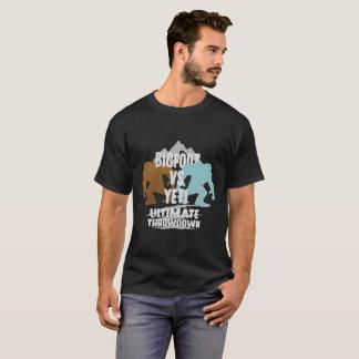 Bigfoot Vs Yeti Ultimate Throwdown Gift Tee