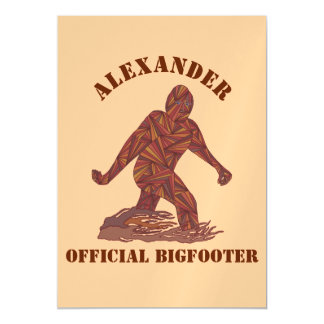 Bigfoot Walking Sasquatch Personalized Tan Brown Magnetic Invitations