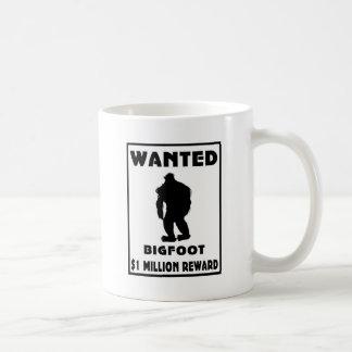 Bigfoot Wanted Poster Basic White Mug