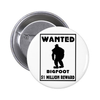 Bigfoot Wanted Poster Buttons
