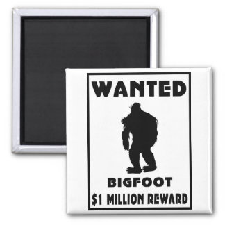 Bigfoot Wanted Poster Refrigerator Magnets