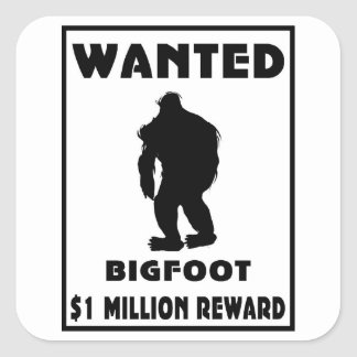 Bigfoot Wanted Poster Square Sticker