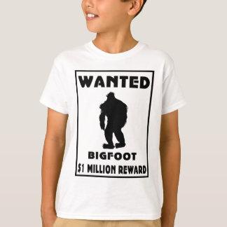 Bigfoot Wanted Poster Tshirt