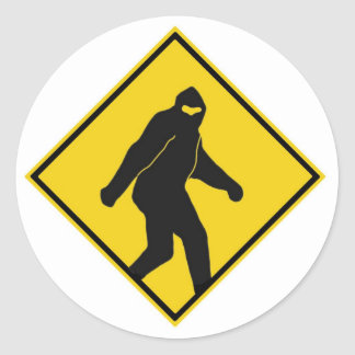 Bigfoot Xing Classic Round Sticker