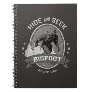 Bigfoot Yeti. Sasquatch. Retro, Vintage. Notebook