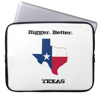"Bigger. Better. Texas' 15"" laptop case"