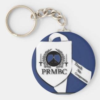 Bigger Image PRMBC logo design line Basic Round Button Key Ring