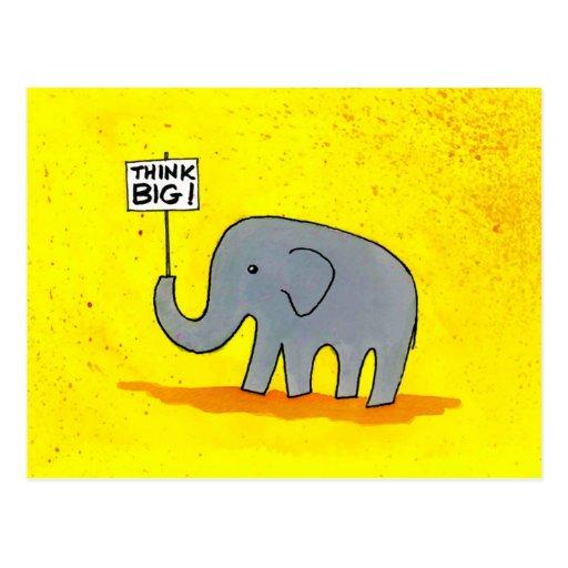 Bigger than an elephant post card