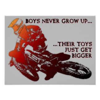 Bigger Toys Dirt Bike Motocross Poster Sign
