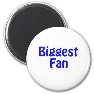 biggest fan 6 cm round magnet