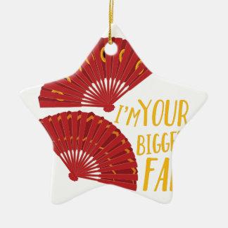 Biggest Fan Ceramic Star Decoration