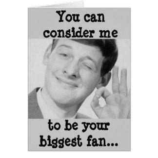 Biggest Fan Greeting Card