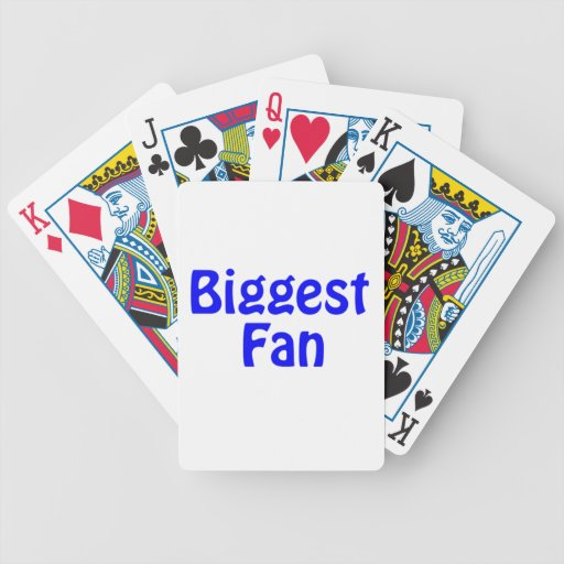 biggest fan playing cards