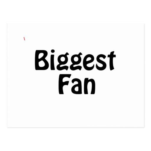 biggest fan post cards