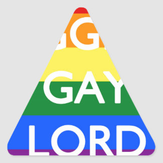 BIGGEST GAY LORD TRIANGLE STICKER