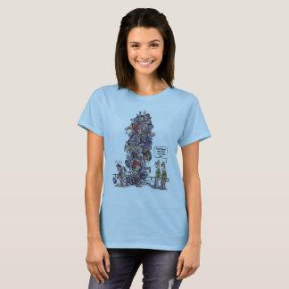 Biggest Sore Loser women cartoon blue shirt