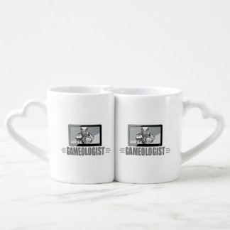 Biggest TV Football Fan! Humorous Gameologist Coffee Mug Set