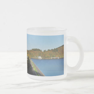 Biggetalsperre in the autumn frosted glass coffee mug
