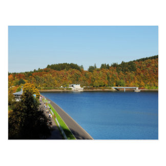 Biggetalsperre in the autumn postcard