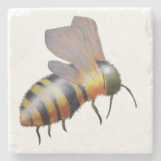 Biggie Bee coasters Stone Beverage Coaster