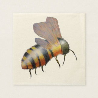 Biggie Bee ecru cocktail napkin Disposable Serviette