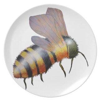 Biggie Bee melamine plate