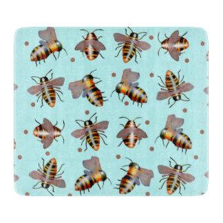 Biggie Bees glass cutting board