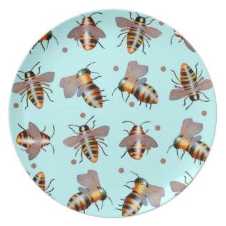 Biggie Bees melamine plate