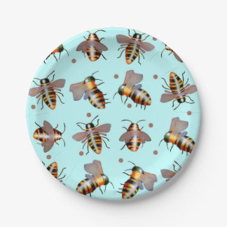 Biggie Bees paper plates 7 Inch Paper Plate