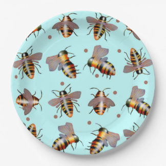Biggie Bees Paper plates 9 Inch Paper Plate