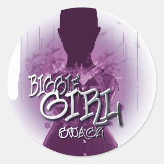 Biggie Girl Swagz Round Sticker