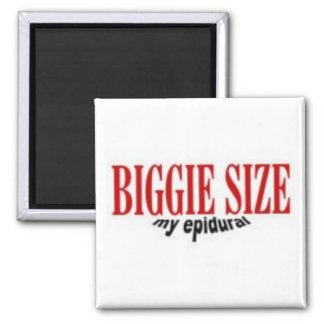 Biggie Size My Epidural Refrigerator Magnet