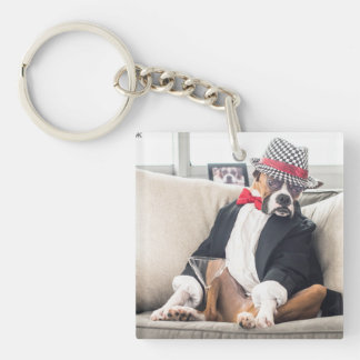 Biggie Smalls Ratpack Keychain Double-Sided Square Acrylic Keychain