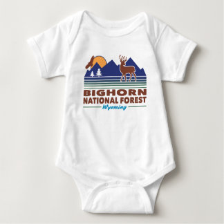 Bighorn National Forest Wyoming Baby Bodysuit