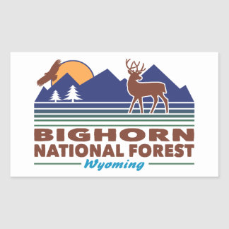 Bighorn National Forest Wyoming Rectangular Sticker