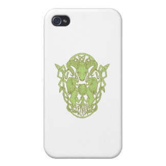 Bighorn Sheep Lion Tree Coat of Arms Celtic Knot Cases For iPhone 4