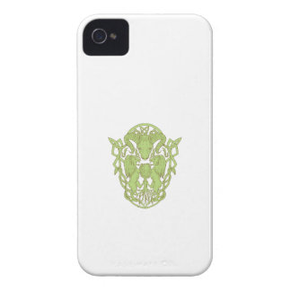 Bighorn Sheep Lion Tree Coat of Arms Celtic Knot iPhone 4 Case-Mate Case