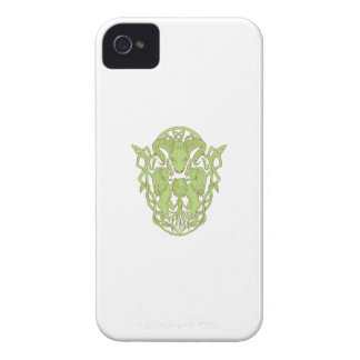 Bighorn Sheep Lion Tree Coat of Arms Celtic Knot iPhone 4 Cover