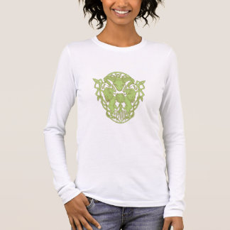 Bighorn Sheep Lion Tree Coat of Arms Celtic Knot Long Sleeve T-Shirt