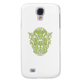 Bighorn Sheep Lion Tree Coat of Arms Celtic Knot Samsung Galaxy S4 Case