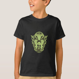 Bighorn Sheep Lion Tree Coat of Arms Celtic Knot T-Shirt