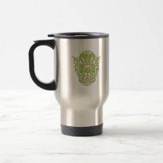 Bighorn Sheep Lion Tree Coat of Arms Celtic Knot Travel Mug