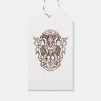 Bighorn Sheep Lion Tree Coat of Arms Celtic Knotwo Gift Tags
