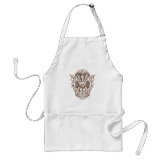 Bighorn Sheep Lion Tree Coat of Arms Celtic Knotwo Standard Apron