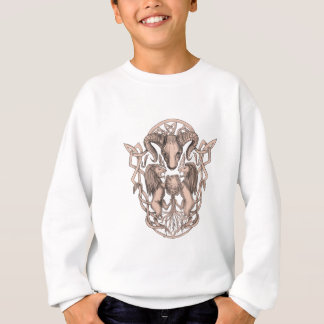Bighorn Sheep Lion Tree Coat of Arms Celtic Knotwo Sweatshirt
