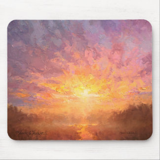 Bight, Bold, and Colorful Clouds Sunrise Painting Mousepads