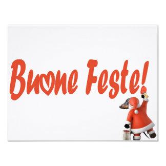 """Biglietto """"BUONE FESTE"""" 11 Cm X 14 Cm Invitation Card"""