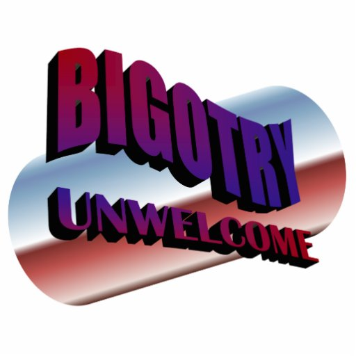 bigotry unwelcome sculpture photo cut outs