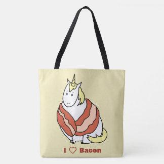 Bijorn The Chubby Unicorn Loves Bacon Tote Bag