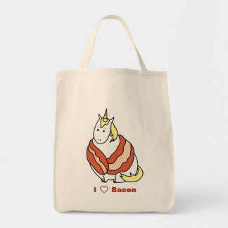 Bijorn The Chubby Unicorn Loves Bacon Tote Bag